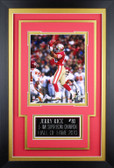 Jerry Rice Framed 8x10 San Francisco 49ers Photo with Nameplate (JR-P5C)