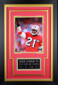 Deion Sanders Framed 8x10 San Francisco 49ers Photo with Nameplate (DS-P2C)