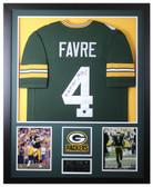 Brett Favre Autographed MVP and Framed Green Green Bay Packers Jersey Favre COA