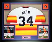 Nolan Ryan Autographed and Framed Rainbow Houston Astros Jersey Auto JSA COA