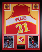 Dominique Wilkins Autographed & Framed Red Atlanta Hawks Jersey Auto JSA Certified