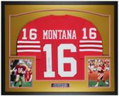 Joe Montana Autographed & Framed Red San Francisco 49ers Jersey Auto JSA Cert