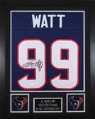 JJ Watt Framed & Autographed Blue Houston Texans Jersey Autograph JSA Certified