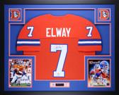 John Elway Autographed and Framed Orange Crush Denver Broncos Jersey Autograph JSA Certified