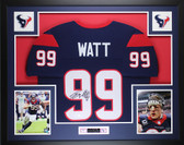 JJ Watt Framed & Autographed Navy Houston Texans Jersey Auto JSA Certification