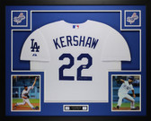 Clayton Kershaw Autographed and Framed White Los Angeles Dodgers Jersey Auto PSA COA