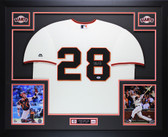 Buster Posey Autographed & Framed Cream Giants Jersey Auto PSA Certified D6-L