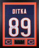 Mike Ditka Autographed and Framed Blue Chicago Bears Jersey Auto JSA COA