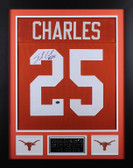 Jamaal Charles Autographed and Framed Orange Texas Longhorns Jersey Auto GT COA