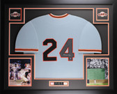 Willie Mays Autographed & Framed Gray San Francisco Giants Jersey Auto Say Hey Certified