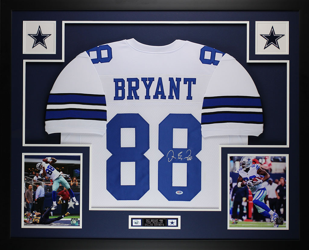 Dez Bryant Autographed And Framed White Cowboys Jersey