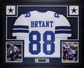 Dez Bryant Autographed & Framed White Dallas Cowboys Jersey Auto PSA COA