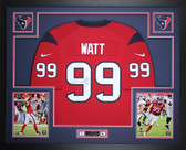 JJ Watt Autographed & Framed Red Houston Texans Nike Jersey Auto JSA COA