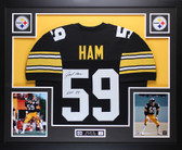 "Jack Ham Autographed ""HOF 88"" and Framed Black Pittsburgh Steelers Jersey Auto JSA Certified"