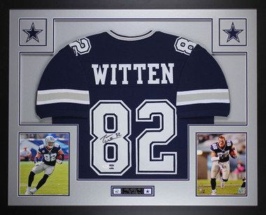 81ce5246 Jason Witten Autographed and Framed Blue Dallas Cowboys Jersey