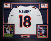 Peyton Manning Autographed & Framed White Denver Broncos Jersey Auto Fanatics COA