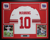 Eli Manning Autographed & Framed White Nike New York Giants Jersey Auto Steiner COA