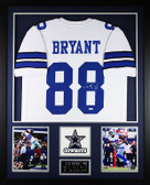 Dez Bryant Autographed & Framed White Dallas Cowboys Jersey Auto PSA Certified
