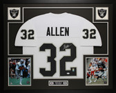 Marcus Allen Autographed and Framed White Raiders Jersey Auto JSA Certified