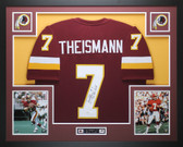 Joe Theismann Autographed 83 MVP and Framed Maroon Washington Redskins Jersey JSA Certified