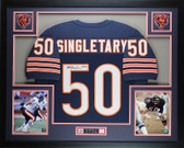 Mike Singletary Autographed and Framed Blue Chicago Bears Jersey HOF Auto JSA Certified