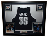 Kevin Durant Autographed and Framed Alt Blue Oklahoma City Thunder Adidas Jersey Panini Certified
