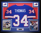 Thurman Thomas Autographed & Framed Blue Buffalo Bills Jersey Auto JSA Certified
