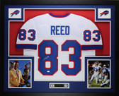 Andre Reed Autographed and Framed White Buffalo Bills Jersey Auto JSA COA