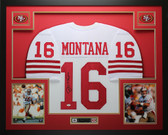 Joe Montana Autographed & Framed White San Francisco 49ers Jersey JSA COA