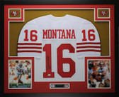 Joe Montana Autographed and Framed White San Francisco 49ers Jersey JSA COA