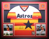 Nolan Ryan Autographed and Framed Rainbow Houston Astros Jersey Auto Tristar COA