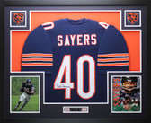 Gale Sayers Autographed and Framed Blue Chicago Bears Jersey JSA COA