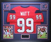 JJ Watt Autographed & Framed Red Houston Texans Jersey Autograph JSA Certified