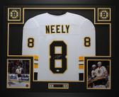 Cam Neely Autographed & Framed White Boston Boston Bruins Jersey JSA COA