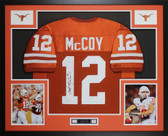 Colt McCoy Autographed Framed Orange Texas Longhorns Jersey JSA COA