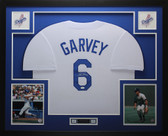 Steve Garvey Autographed and Framed White Los Angeles Dodgers Jersey Auto JSA COA