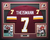 Joe Theismann Autographed 83 NFL MVP & Framed Maroon Washington Redskins Jersey JSA COA