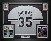 Frank Thomas Autographed & Framed Gray Chicago White Sox Jersey Auto Leaf COA