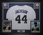 Reggie Jackson Autographed and Framed New York Yankees Pinstriped Jersey JSA COA