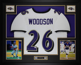 Rod Woodson Autographed SB Champs and Framed White Baltimore Ravens Jersey JSA Certified