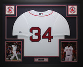 David Ortiz Autographed & Framed White Boston Red Sox Jersey Auto Fanatics COA