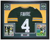 Brett Favre Autographed MVP and Framed Green Green Bay Packers Jersey Auto Favre Certified