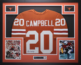 Earl Campbell Autographed and Framed Orange Texas Longhorns Jersey Tristar COA