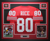 Jerry Rice Autographed and Framed Red San Francisco 49ers Jersey Auto TristarCOA