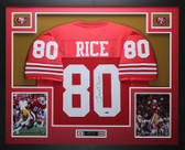 Jerry Rice Autographed and Framed Red 49ers Jersey Auto TristarCOA D10-L