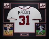 Greg Maddux Autographed and Framed White Atlanta Braves Jersey Auto Tristar COA