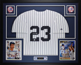 Don Mattingly Autographed and Framed White Pinstriped New York Yankees Jersey Auto JSA Certified