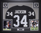Bo Jackson Autographed and Framed Black Raiders Jersey Autograph JSA COA