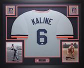 Al Kaline Autographed & Framed Gray Detroit Tigers Jersey Auto JSA COA