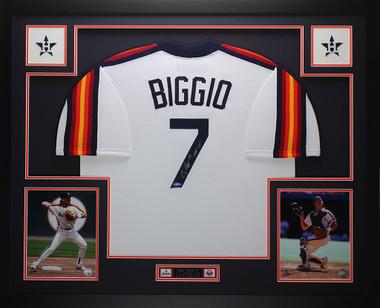watch 28872 0189b Craig Biggio Autographed HOF 15 & Framed Rainbow Astros Jersey